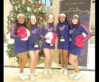 LOCAL ALLAMERICAN CHEERLEADERS PERFORM IN LONDON NEW YEAR'S DAY PARADE